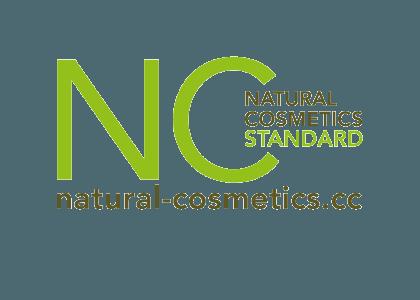 화장품 원료 인증 기관 NC(NATURAL COSMETICS STANDARD) 로고